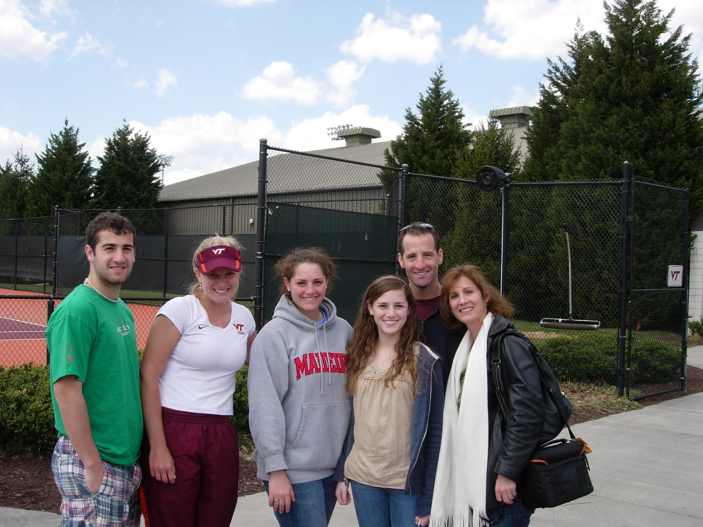 Virginia Tech tennis ace JJ Larson and the Landau family