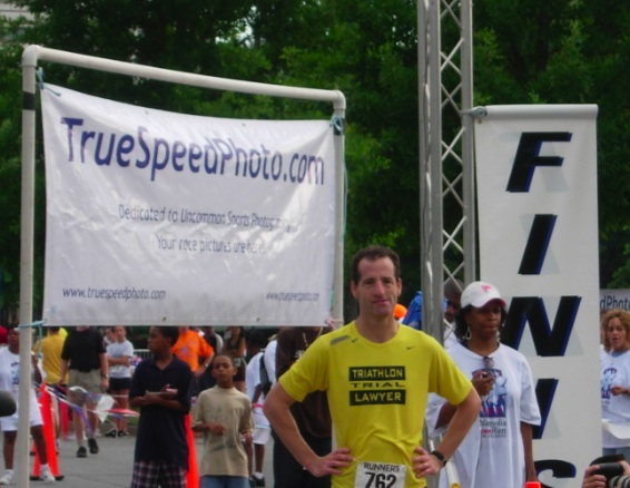 Virginia Trial Lawyer Landau races in Georgia Magnolia Festival, June, 2008