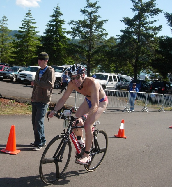 TriathlonTrialLawyer Doug Landau beginning the Bike course