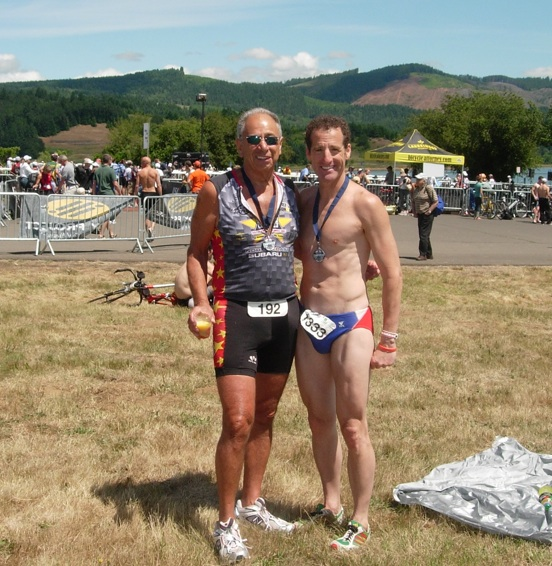 TriathlonTrialLawyer Doug Landau & Steve Schloss after teh National Age Group Championships