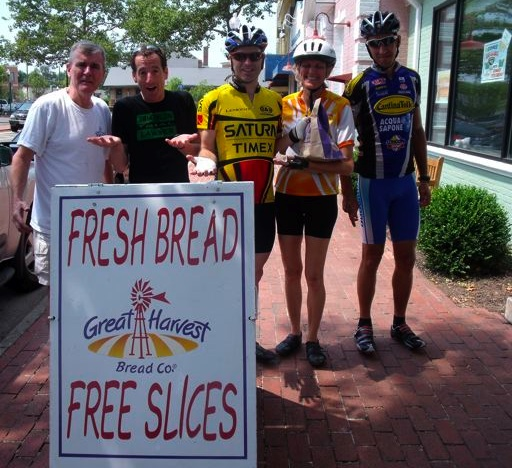 Herndon cyclists surveyed at Great Harvest Bread did not know they could get points on their bikes !